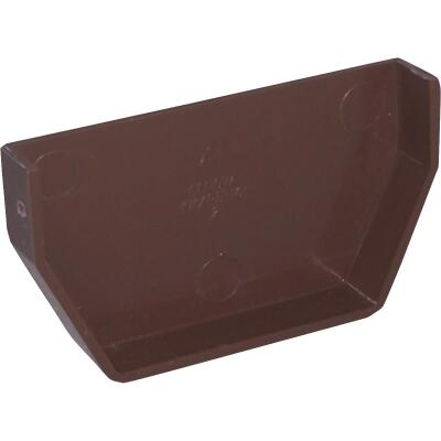 Raingo 5 In. Vinyl Brown Inside Gutter End Cap