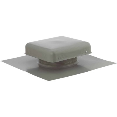 "NorWesco 7-3/4"" Galvanized Steel Grey Static Roof Mount Attic Vent"