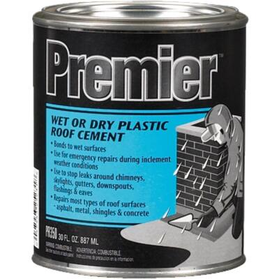 Premier 350 30 Oz. Wet or Dry Plastic Roof Cement