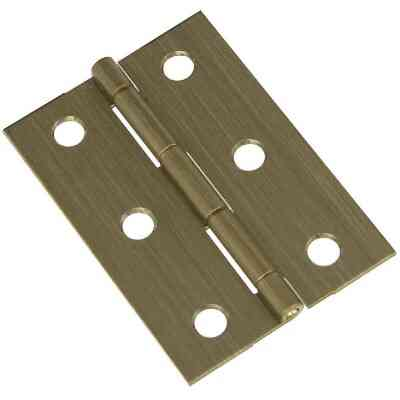 National 1-3/4 In. x 2-1/2 In. Antique Brass Medium Decorative Hinge (2-Pack)