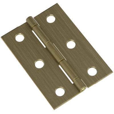 National 1-3/4 In. x 2-1/2 In. Antique Brass Medium Decorative Hinge (2-Pack)