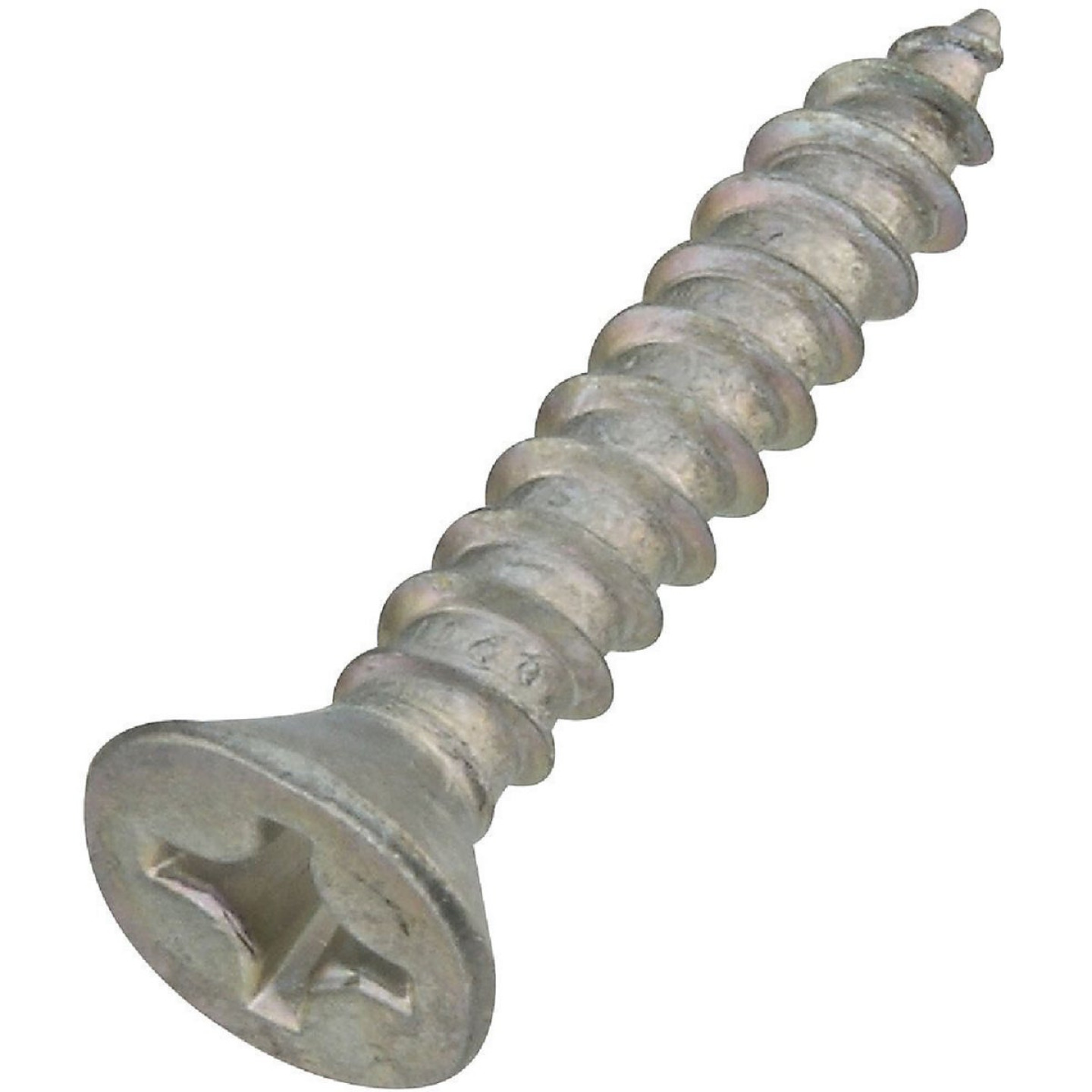 National #12 x 1-1/4 In. Phillips Flat Head Zinc Wood Screw (18 Ct.) Image 1