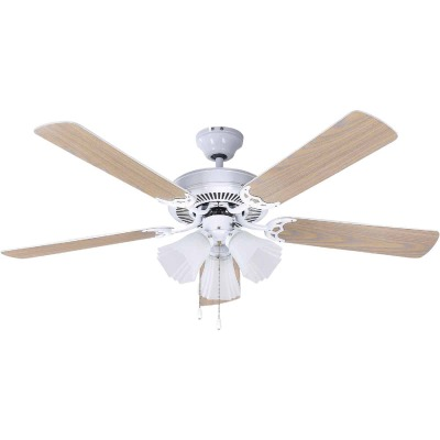 Home Impressions Sherwood 52 In. White Ceiling Fan with Light Kit