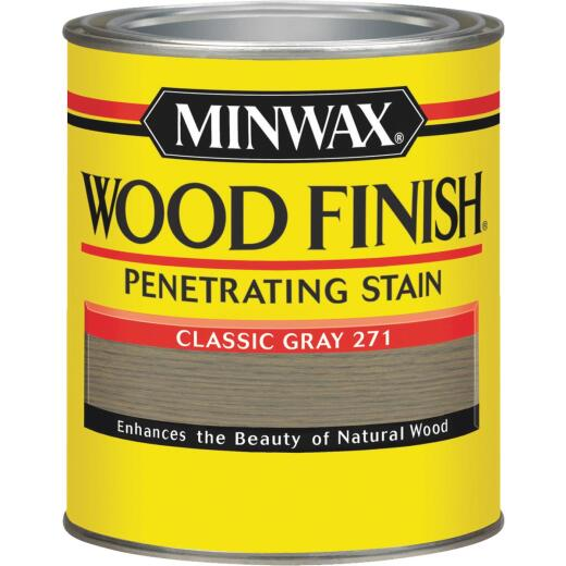 Minwax Wood Finish Penetrating Stain, Classic Gray, 1 Qt.