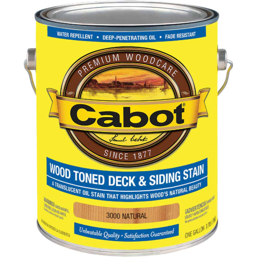 Cabot Alkyd/Oil Base Wood Toned Deck & Siding Stain, Natural, 1 Gal.