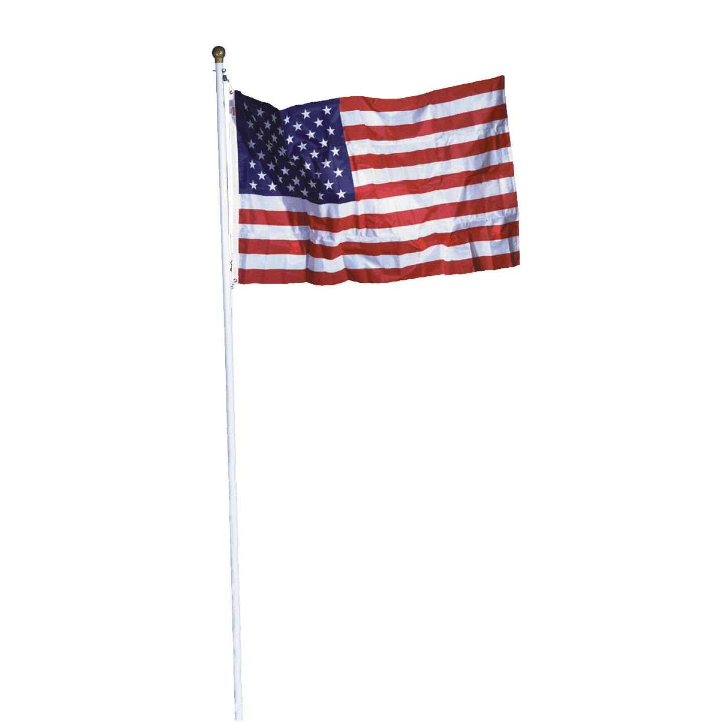 Valley Forge 3 Ft. x 5 Ft. Polycotton American Flag & 18 Ft. Pole Kit Image 1